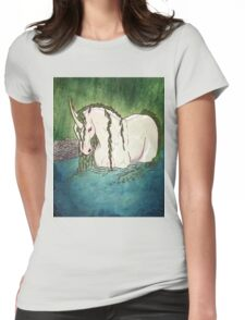Willow Unicorn Womens Fitted T-Shirt