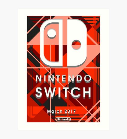 Nintendo Switch Abstract Art Print