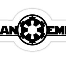 Fit Fan Empire - Black Sticker