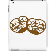 2 freunde team gesicht lustig horror monster comic cartoon brezel essen hunger lecker oktoberfest logo symbol cool design  iPad Case/Skin