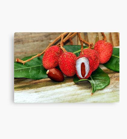 Lychee Fruit Canvas Print