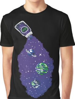 Space Galaxy Earth Rocket Technology Planets Astronaut Gift Graphic T-Shirt