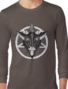 YOUNG BAPHOMET WHITE Long Sleeve T-Shirt