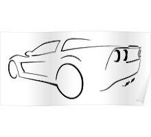 Chevrolet Corvette graphic (Black) Poster