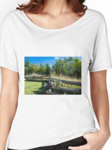 country back road scenery Women's Relaxed Fit T-Shirt