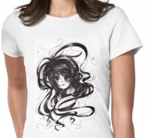 Lost In Dark Hair Womens Fitted T-Shirt