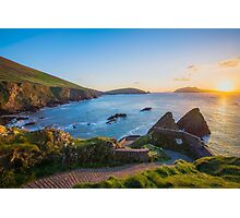 Dunquin Pier sunset Photographic Print
