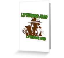 littering and Greeting Card