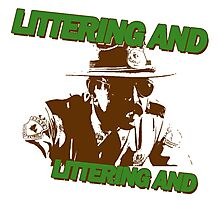 littering and Photographic Print
