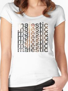 Majestic casual Women's Fitted Scoop T-Shirt