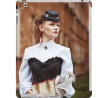 Beautiful redhair woman in vintage clothes iPad Case/Skin