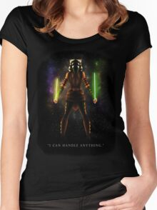 "Ahsoka Tano - ""I Can Handle Anything"" Women's Fitted Scoop T-Shirt"