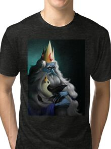 The King and his Penguin Tri-blend T-Shirt