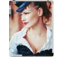 Vintage portrait of beautiful girl iPad Case/Skin