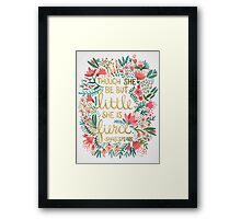 Little & Fierce Framed Print