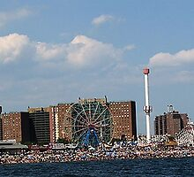 Coney Island Beach 2  by thesunsetkid