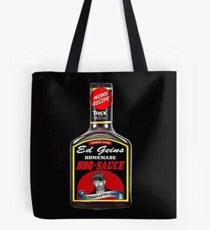 ED GEIN BBQ SAUCE Tote Bag