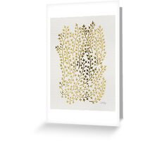 Gold Ivy Greeting Card