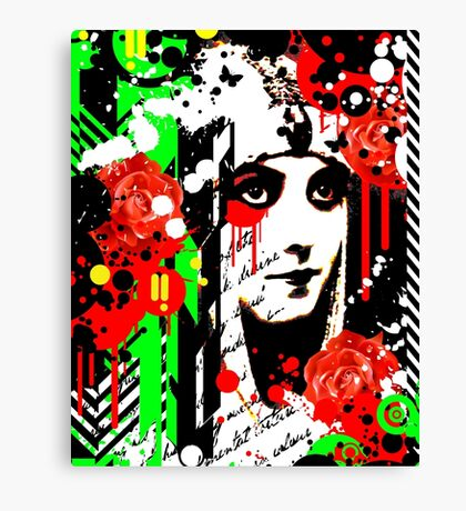 Zombie Queen of Roses Canvas Print