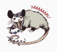 Daisy Chain Opossum Possum Yaaaas! One Piece - Short Sleeve