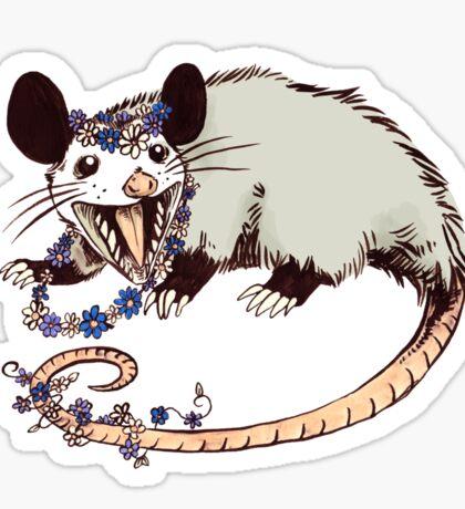 Daisy Chain Opossum Possum Yaaaas! Sticker