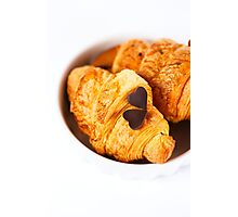 Fresh baked tasty croissant Photographic Print