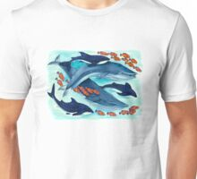 Blue Whales and Friends Unisex T-Shirt