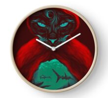 Cat Sharks Clock