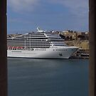 Cruise Ship, The Grand Harbour, Valletta by wiggyofipswich