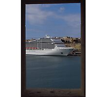 Cruise Ship, The Grand Harbour, Valletta Photographic Print