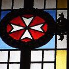 Maltese Cross Stained Glass by wiggyofipswich