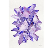 Watercolor Amethyst Photographic Print