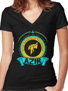 Azir - The Emperor Of The Sands Women's Fitted V-Neck T-Shirt