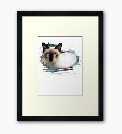 Siamese art Framed Print