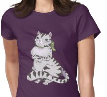Francesca, The Fussy Fluffy Tabby Cat Womens Fitted T-Shirt