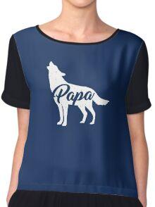 Papa Wolf / Papa bear T Shirt Chiffon Top