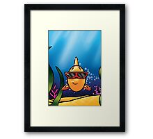 HeinyR- Goldfish with Sunglasses Framed Print
