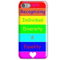 Individual Diversity & Equality iPhone Case/Skin