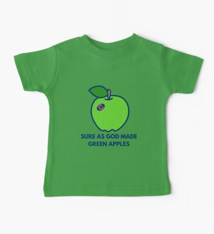 Chicago Cubs World Series Green Apples Baby Tee