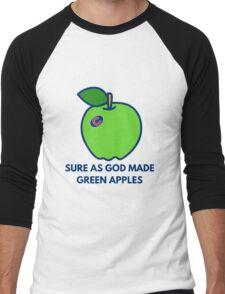 Chicago Cubs World Series Green Apples Men's Baseball ¾ T-Shirt