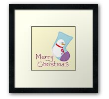 Greeting card with Christmas Framed Print