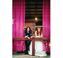Happy young married couple, smiling Photographic Print