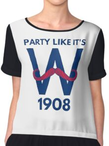 Chicago Cubs World Series Winners 2016 1908 Chiffon Top