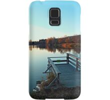 Indian summer sunset at the fishing lake II | waterscape photography Samsung Galaxy Case/Skin