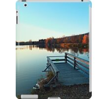 Indian summer sunset at the fishing lake II | waterscape photography iPad Case/Skin