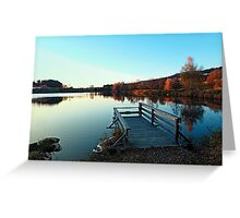 Indian summer sunset at the fishing lake II | waterscape photography Greeting Card