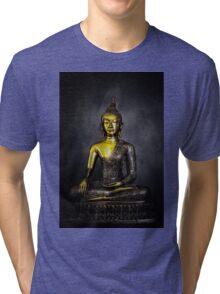 Goldener Buddha Tri-blend T-Shirt