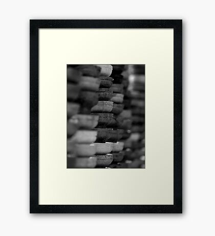 LAYER OF ICE CREAM CONES Framed Print