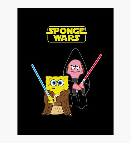 Sponge Wars Photographic Print