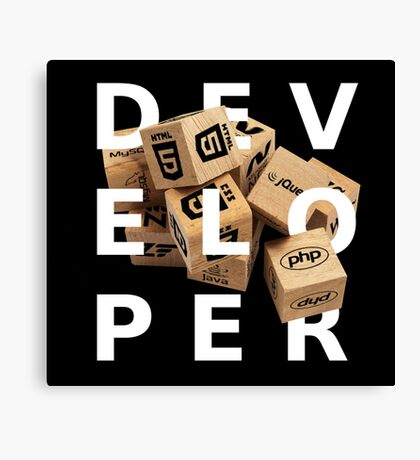 developer coder programming lenguage Canvas Print
